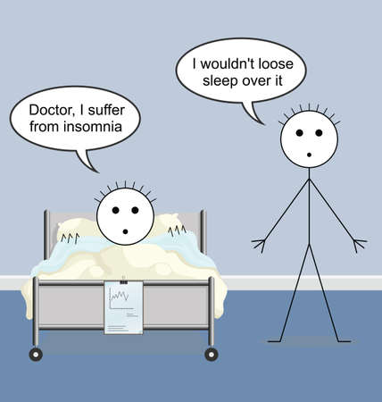 a physician: Doctor quack on the hospital ward and insomnia