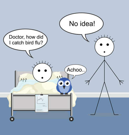 infirmity: Doctor quack on the hospital ward and bird flu