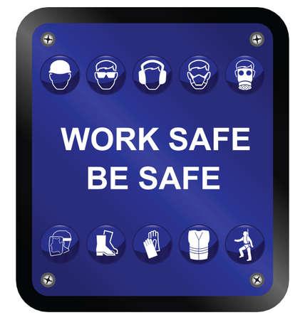 건설 안전 보건에 격리 된 흰색 배경 서명