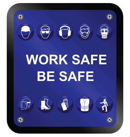 Construction Health and Safety sign isolated on white background Vector