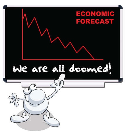 doomed: Man with we are all doomed economic forecast