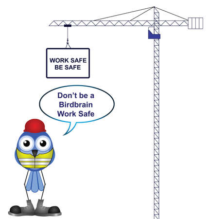 Construction health and safety work safe be safe  Vector