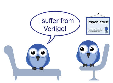 On the Psychiatric couch and vertigo phobia Stock Vector - 12481445