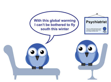 climate change: On the Psychiatric couch and global warming Illustration