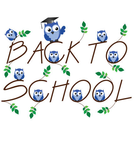 Back to school twig text isolated on white background Stock Vector - 13653449