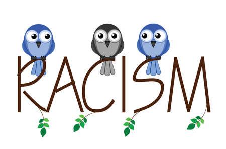 minority: Racism twig text representing intolerance to minorities in society