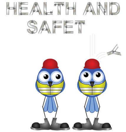 zapatos de seguridad: Trabajadores de la construcci�n y el signo de la salud y la seguridad aisladas sobre fondo blanco