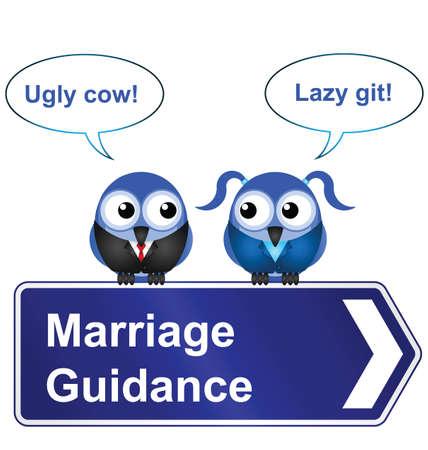 insulto: Signo c�mico orientaci�n matrimonio aislado sobre fondo blanco