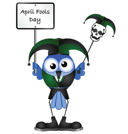 jest: Comical April Fools Day message isolated on white background Illustration