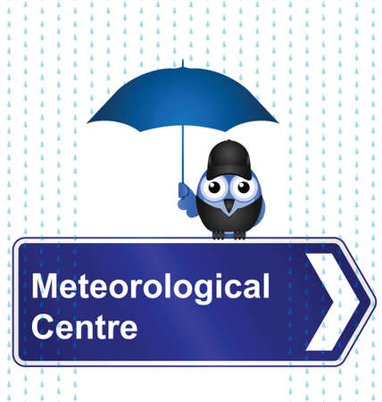 Comical Meteorological Centre sign isolated on white background Stock Vector - 15870423