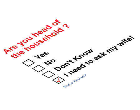 questioned: Market research questionnaire asking head of household