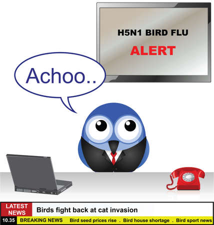 avian flu: Bird News Desk with H5N1 bird flu story