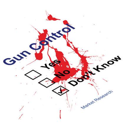 Blood splattered Market research gun control questionnaire