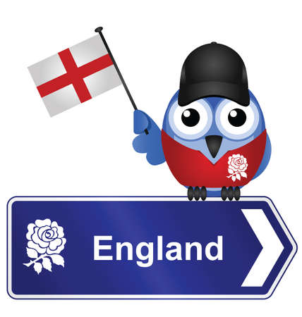 populace: Comical England sign isolated on white background