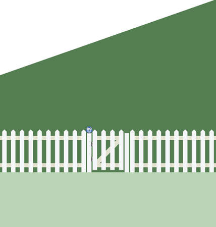 picket: Proverb the grass is always greener on the other side of the fence