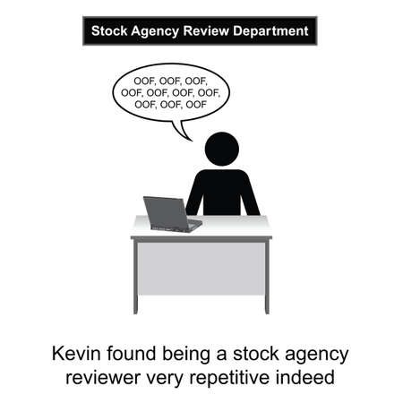 Kevin got bored at work cartoon isolated on white background Imagens - 23853627