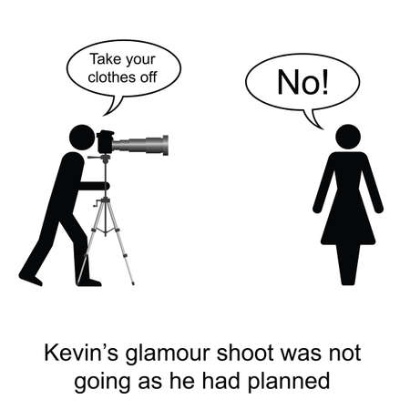 Kevin was having problems with his model cartoon isolated on white background  Vector