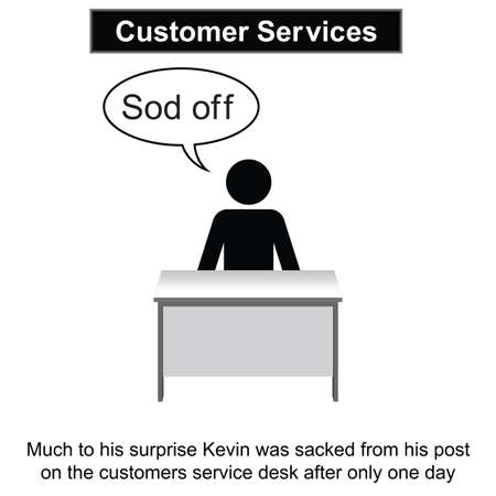 kevin: Kevin needed to improve his people skills cartoon isolated on white background  Illustration