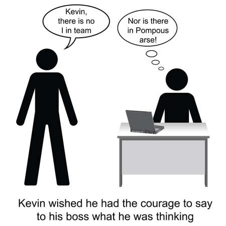 kevin: Kevin and his pompous boss cartoon isolated on white background  Illustration