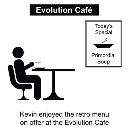 kevin: Kevin enjoying a meal out cartoon isolated on white background  Illustration