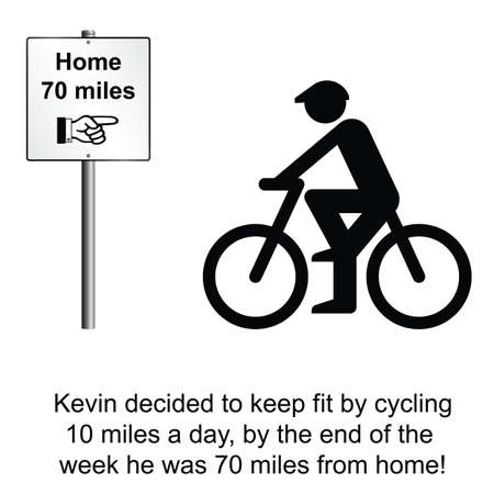 kevin: Kevin miscalculated his keep fit regime cartoon isolated on white