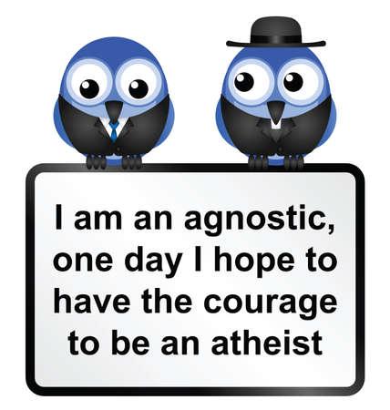 conciencia moral: Signo adagio Ateo aisladas sobre fondo blanco