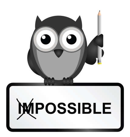 Monochrome concept of making the impossible possible isolated on white background Stock Vector - 26529874