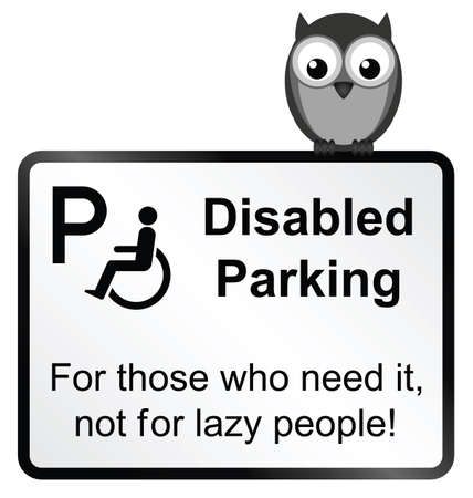 disabled parking sign: Monochrome Disabled Parking sign isolated on white background