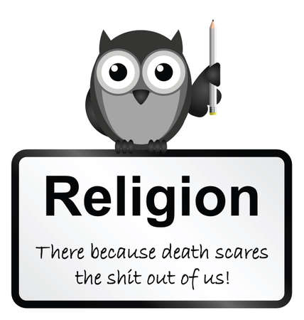 theological: Monochrome religion and death sign isolated on white background
