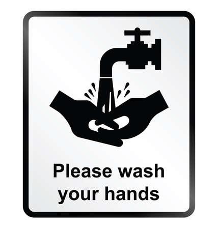 infektion: Infektion zu verhindern �ffentlichen Gesundheitsinformationen Zeichen isoliert auf wei�em Hintergrund Illustration