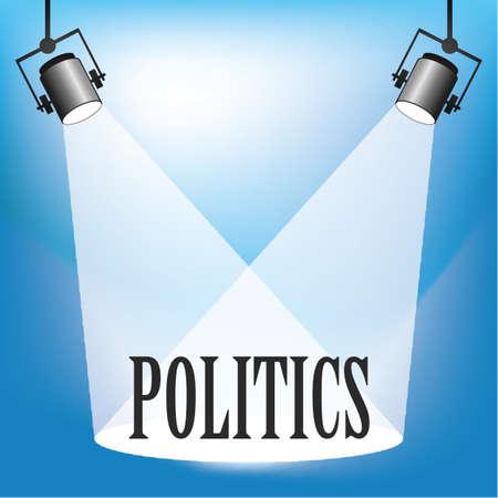 brightness: Concept of Politics being in the spotlight