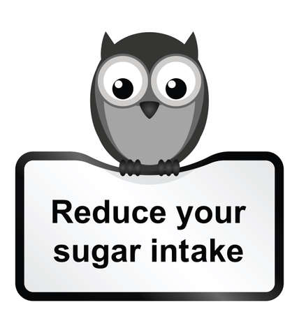tubby: Monochrome obesity sugar intake sign isolated on white background