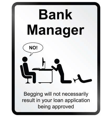 bank manager: Monocromo c�mica se�al de informaci�n p�blica de banco aislado en el fondo blanco