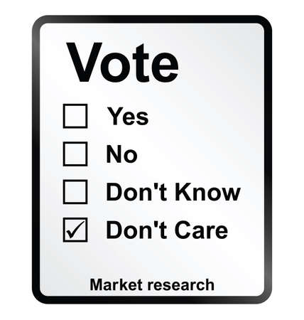 electoral: Monochrome market research vote sign isolated on white background