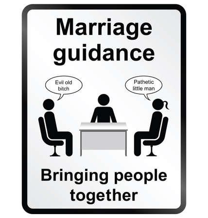insulto: Monocromo orientaci�n matrimonial c�mica muestra de la informaci�n p�blica sobre fondo blanco