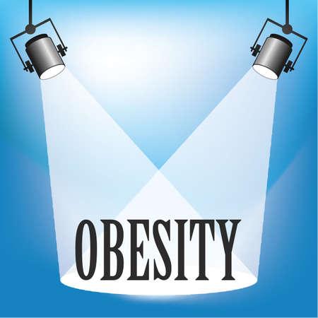 Concept of Obesity being in the spotlight Stock Illustratie