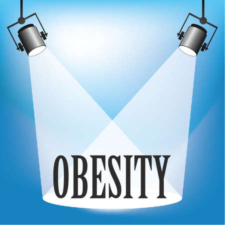 Concept of Obesity being in the spotlight Illustration