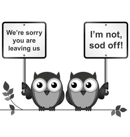pardon: Monochrome comique un message désolé que vous quittez isolé sur fond blanc