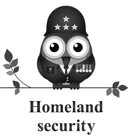 American homeland security isolated on white background