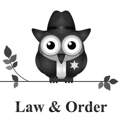 law enforcer: Law and order USA version isolated on white background Illustration