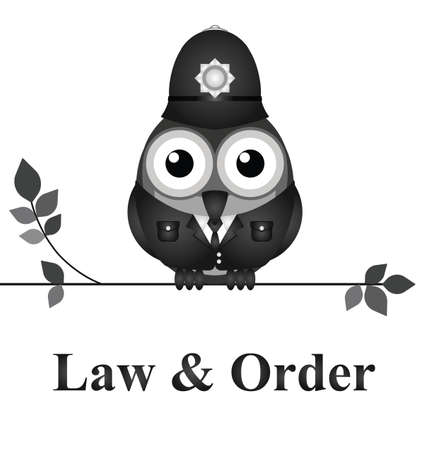 Law and order UK version isolated on white background Stock fotó - 31068986