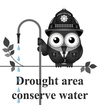 conserve: Monochrome conserve water message isolated on white background