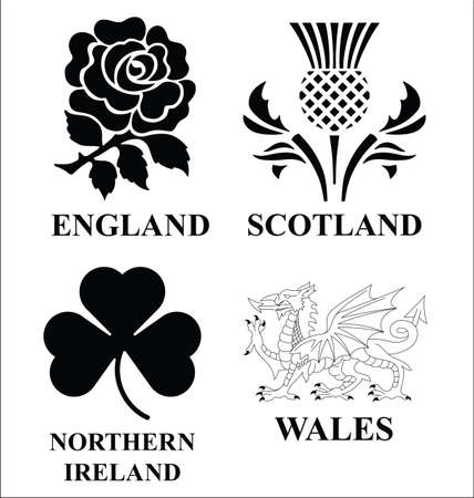 United Kingdom emblems Illustration