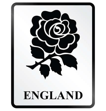 rosas negras: Monocromo Inglaterra signo de la información pública sobre fondo blanco