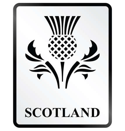 simbolo: Monocromo Escocia signo de la información pública sobre fondo blanco