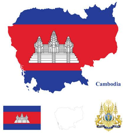 cambodia: Cambodia Flag Illustration