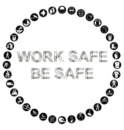 ear protection: Black and white construction manufacturing and engineering health and safety related circular icon