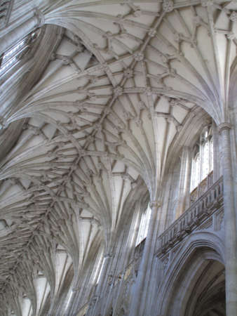 stonemasonry: Norman vaulted stone ceiling dating from circa 1080 AD Stock Photo