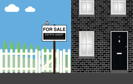 residential home: Residential home for sale with estate agent sign