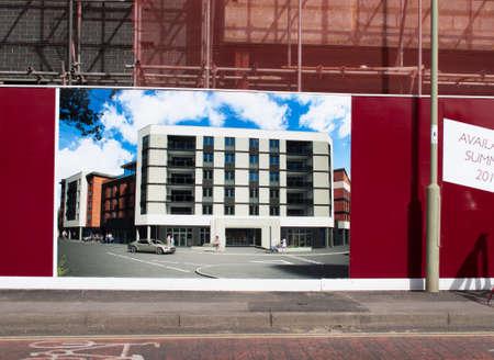 churchill: Churchill Retirement Living retirement apartment construction site development Editorial